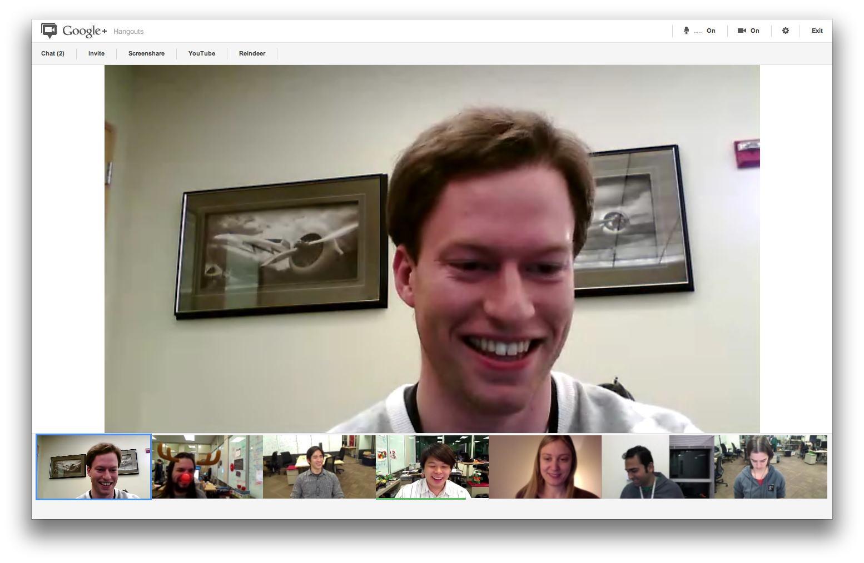 Google Hangout Online møder i HD Skærmbillede