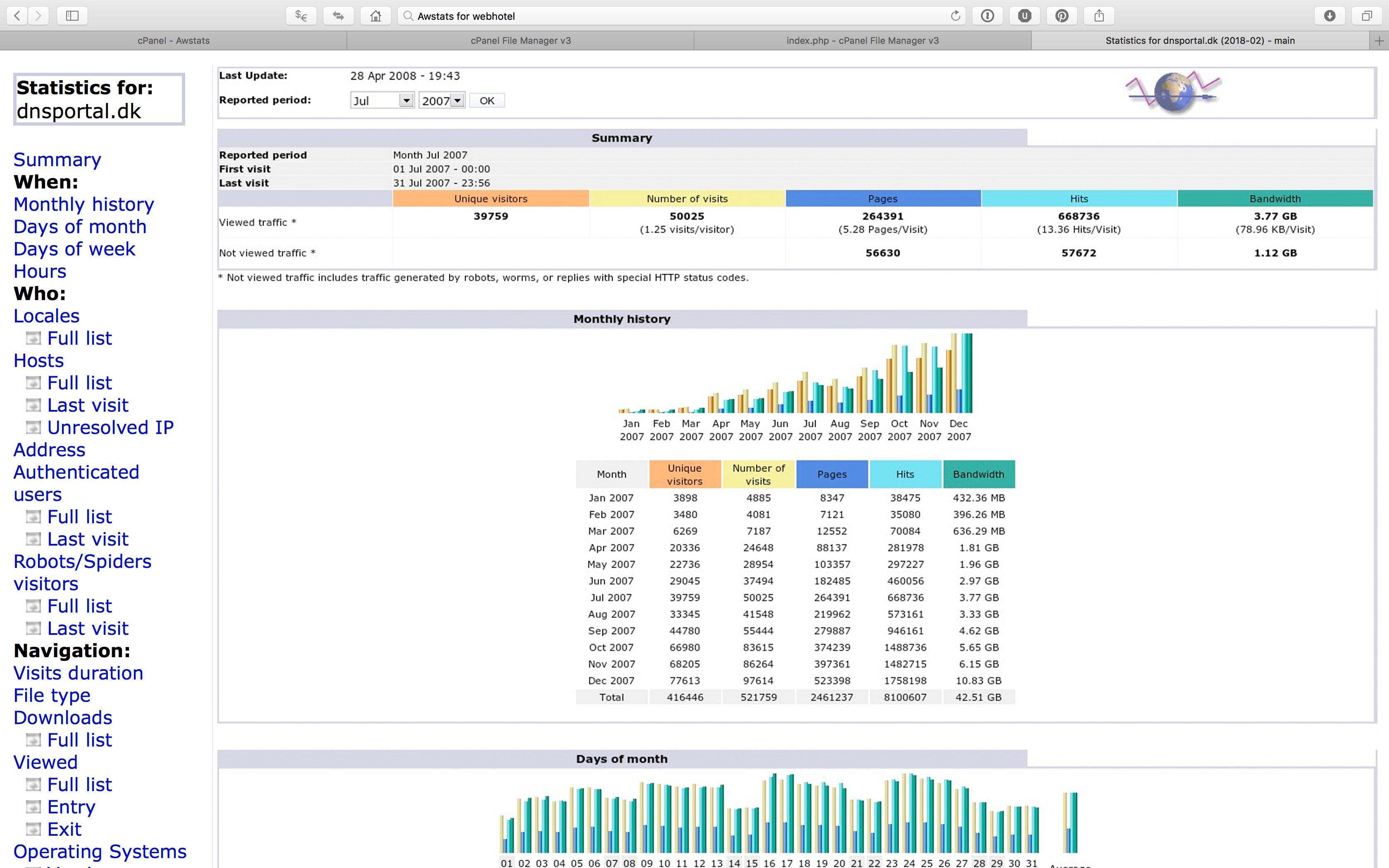 Cloud Webhotel med cPanel på dansk